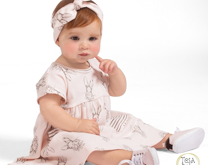 WHOLESALE Ships 1/15/19 Baby Easter Dress, Baby Girl Dress, Newborn Bunnies Girl Dress, Toddler Dress, Baby Dress, Baby Girl Dress TesaBabe