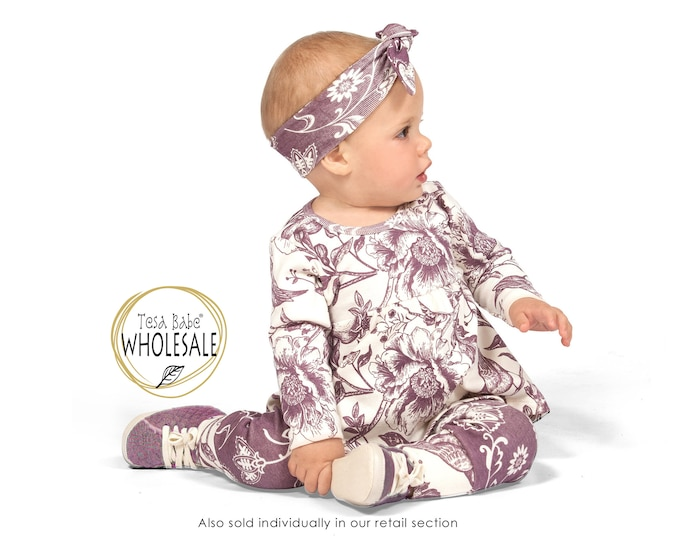 WHOLESALE Baby Girl Outfit, Baby Girl Floral Top Bottom Outfit, Baby Girl Leggings, Newborn Girl Outfit, Infant Baby Girl Set TesaBabe