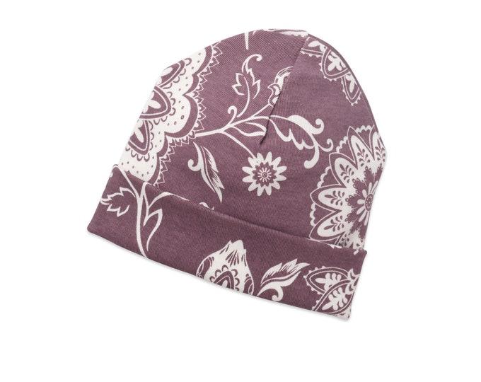 Newborn Baby Girl Hat, Toddler Baby Hats, Baby Hat for Girls, Baby Girl Clothes, Baby Girl Caps, Purple, Toddler Flower Girl HatsTesababe