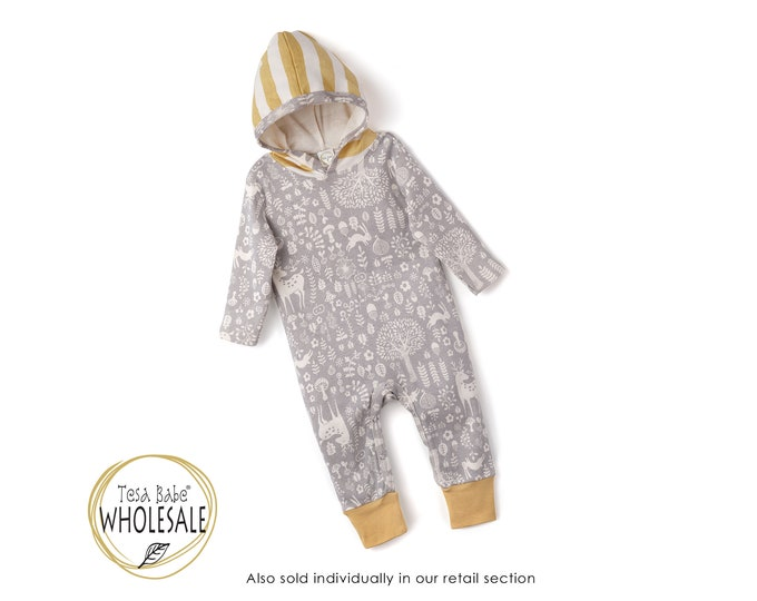 WHOLESALE Baby Boy Fall Outfit Outfit, Autumn Baby Hoodie Romper, Baby Long Sleeve Hooded Romper, Infant Baby Hoodie Thanksgiving Tesa Babe