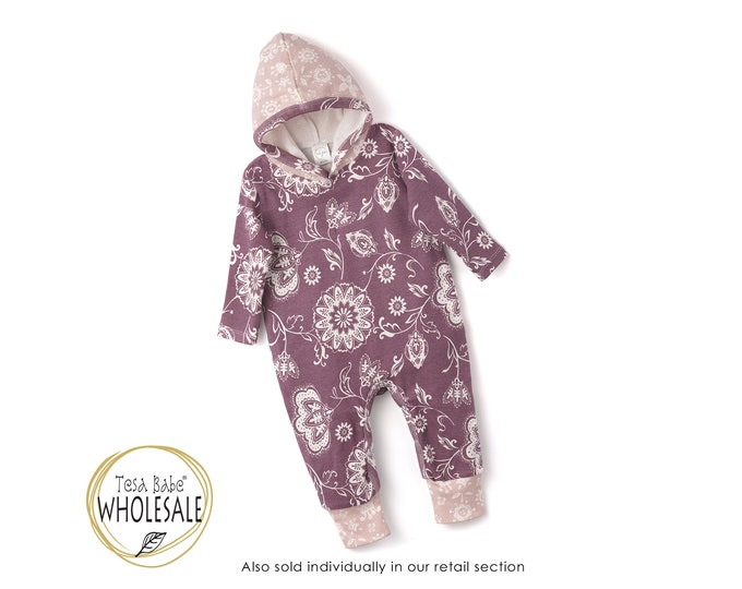 WHOLESALE Baby Girl Fall Outfit Outfit, Autumn Baby Hoodie Romper, Baby Girl Long Sleeve Hooded Romper, Infant Baby Hoodie Baby Tesa Babe