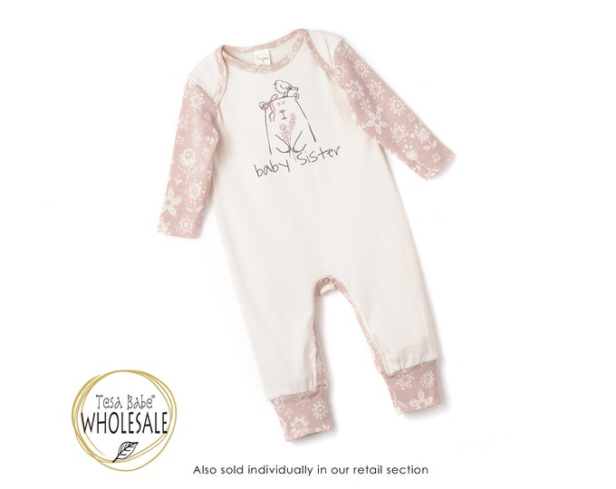 WHOLESALE Baby Sister Onesie Outfit, Newborn Baby Sister Outfit, Little Sister Baby Romper, Infant Baby Romper, Little Sister, Tesa Babe