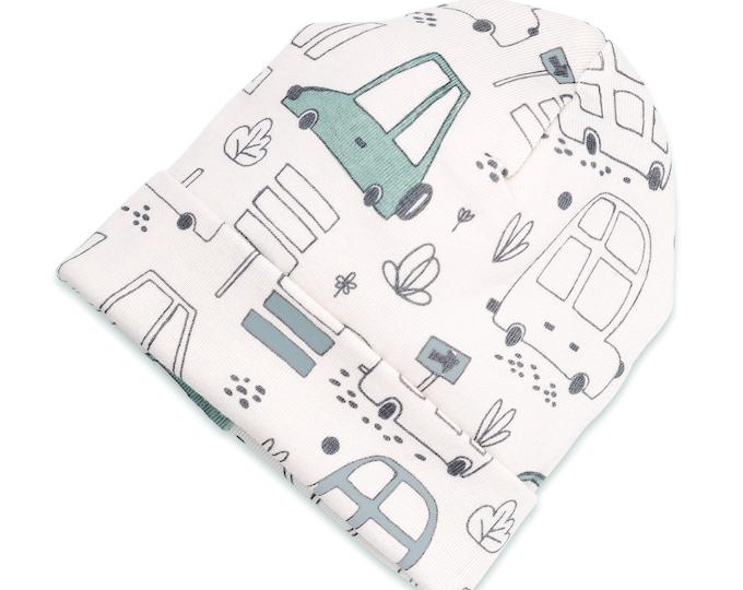 Cars Newborn Baby Boy Hat, Newborn Baby Hat, Car Baby Hat Boys, Baby Boy Cap, City Car Tesababe SS19-7