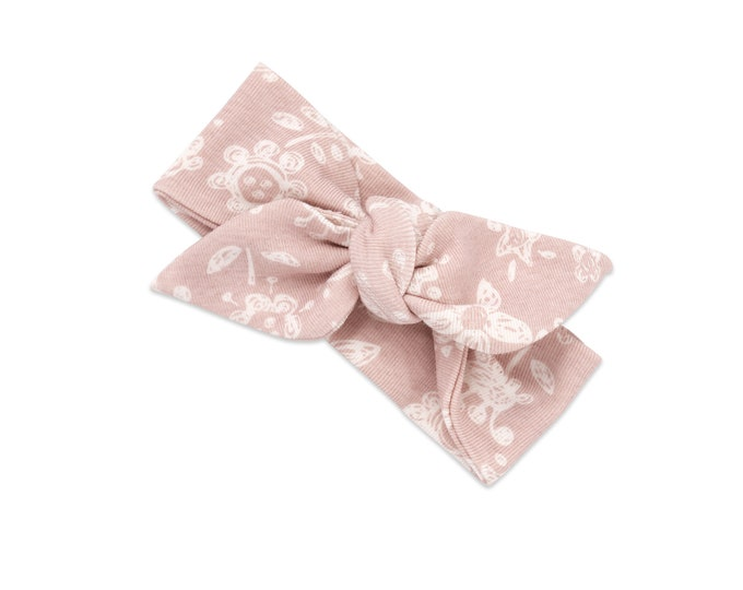 Baby Girl Headband, Newborn Girl Headband Pink, Infant Headband, Pink Flower Girl Headband, Toddler Headbands, Flower Baby Headband TesaBabe