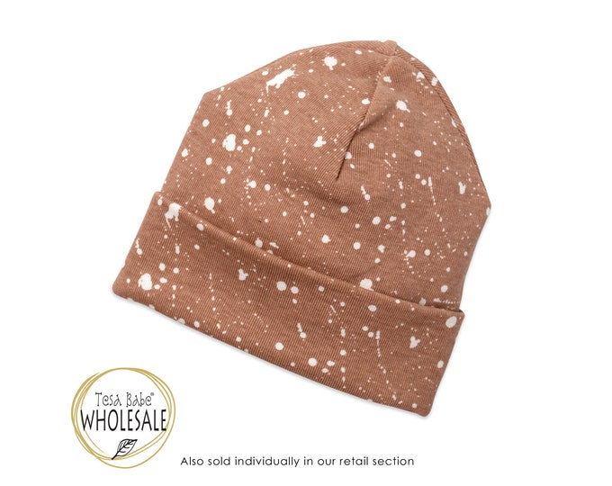 WHOLESALE Newborn Baby Hat, Newborn Baby Neutral Hat, Baby Hat Girls, Baby Boy Beanies, Baby Girl Boy Hats Pecan Brown Tesa Babe