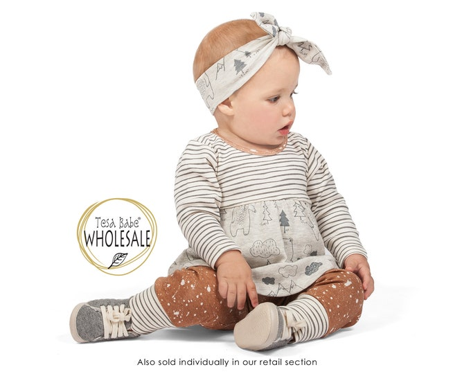 WHOLESALE Baby Girl Outfit, Baby Girl Bear Long Sleeve Outfit, Baby Girl Top Bottom, Newborn Girl Outfit, Infant Girl Fall Outfit, TesaBabe