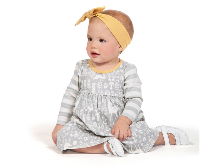 Baby Girl Dress Fall, Baby Girl Woodland Dress, Newborn Baby Girl Dress, Thanksgiving Baby Dress, Toddler Baby Girl Dress, Infant, TesaBabe