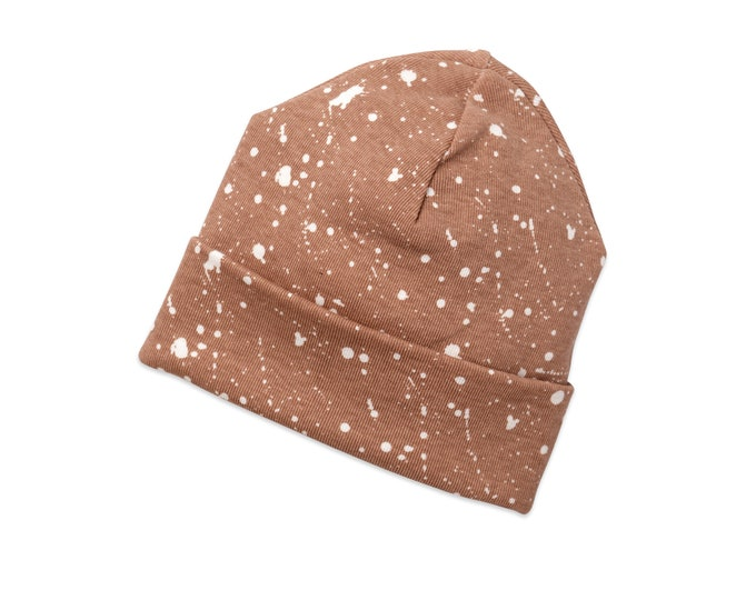 Newborn Baby Hat, Newborn Baby Neutral Hat, Baby Hat Girls, Baby Boy Beanies, Baby Girl Boy Hats Pecan Brown Tesa Babe