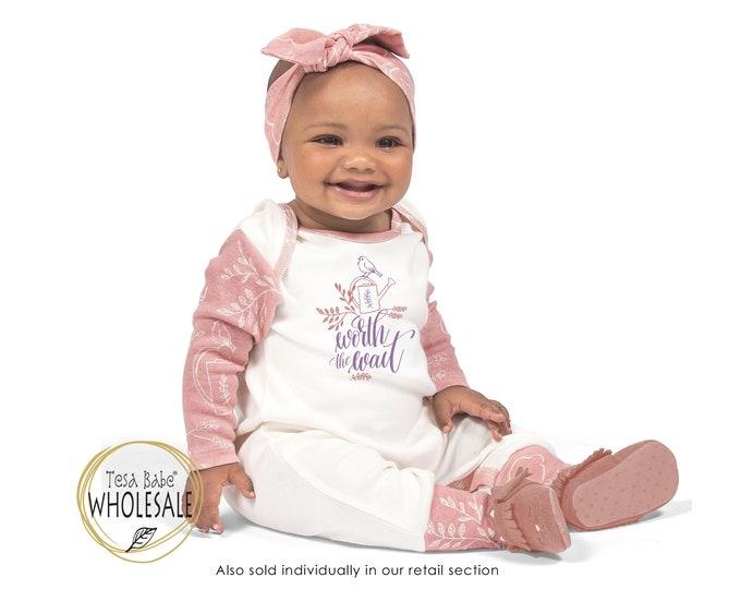 WHOLESALE Baby Worth the Wait Onesie Outfit, Newborn Baby Girl Outfit, Worth the Wait Romper, Infant Baby Romper, Bird Onesie, Tesa Babe