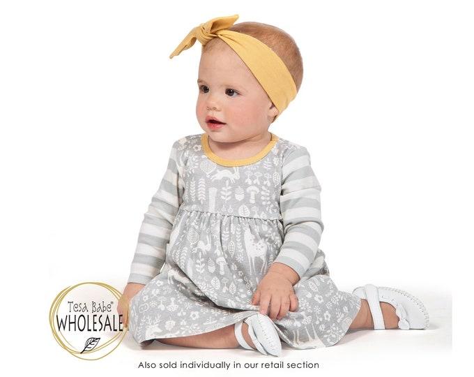 WHOLESALE Baby Girl Dress Fall, Baby Girl Woodland Dress, Baby Girl Dress, Thanksgiving Baby Dress, Baby Girl Dress Long Sleeve TesaBabe