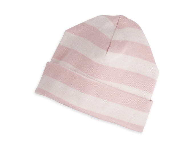 Baby Hat, Newborn Pink Striped Baby Hat, Unisex Striped Baby Hat, Pink Hat, Pink Striped Baby Hat, Boy Girl Beanie, Gray Stripe Cap TesaBabe