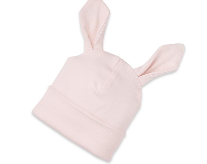 Easter Newborn Baby Girl Bunny Hat, Newborn Baby Hat with Ears, Pink Baby Hat Girls, Baby Girl Cap, Pink Easter Tesababe