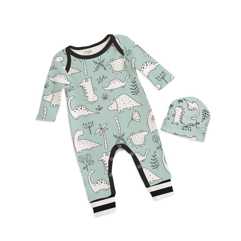 0bed601fd SALE Baby Boy Dinosaur Outfit Baby Dinosaur romper Baby Boy | Etsy