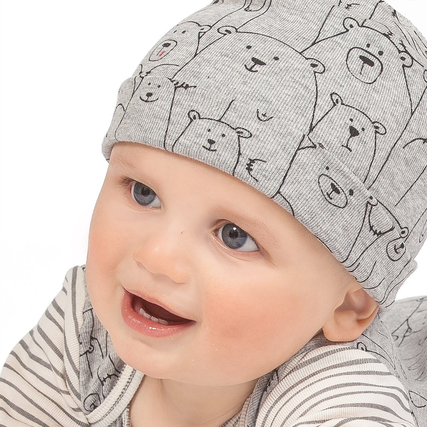 ... Baby Girl Boy Hats Gray Bears Tesa Babe. 1 d349845bc0f