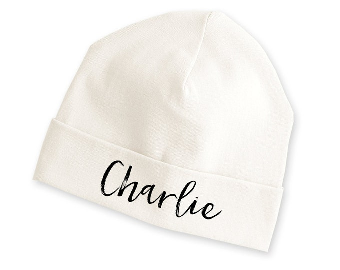 Personalized Newborn Coming Home Beanie, TesaBabe, Personalized Baby Beanie, Newborn Coming Home Outfit, Baby Name Hat, Personalized Hat