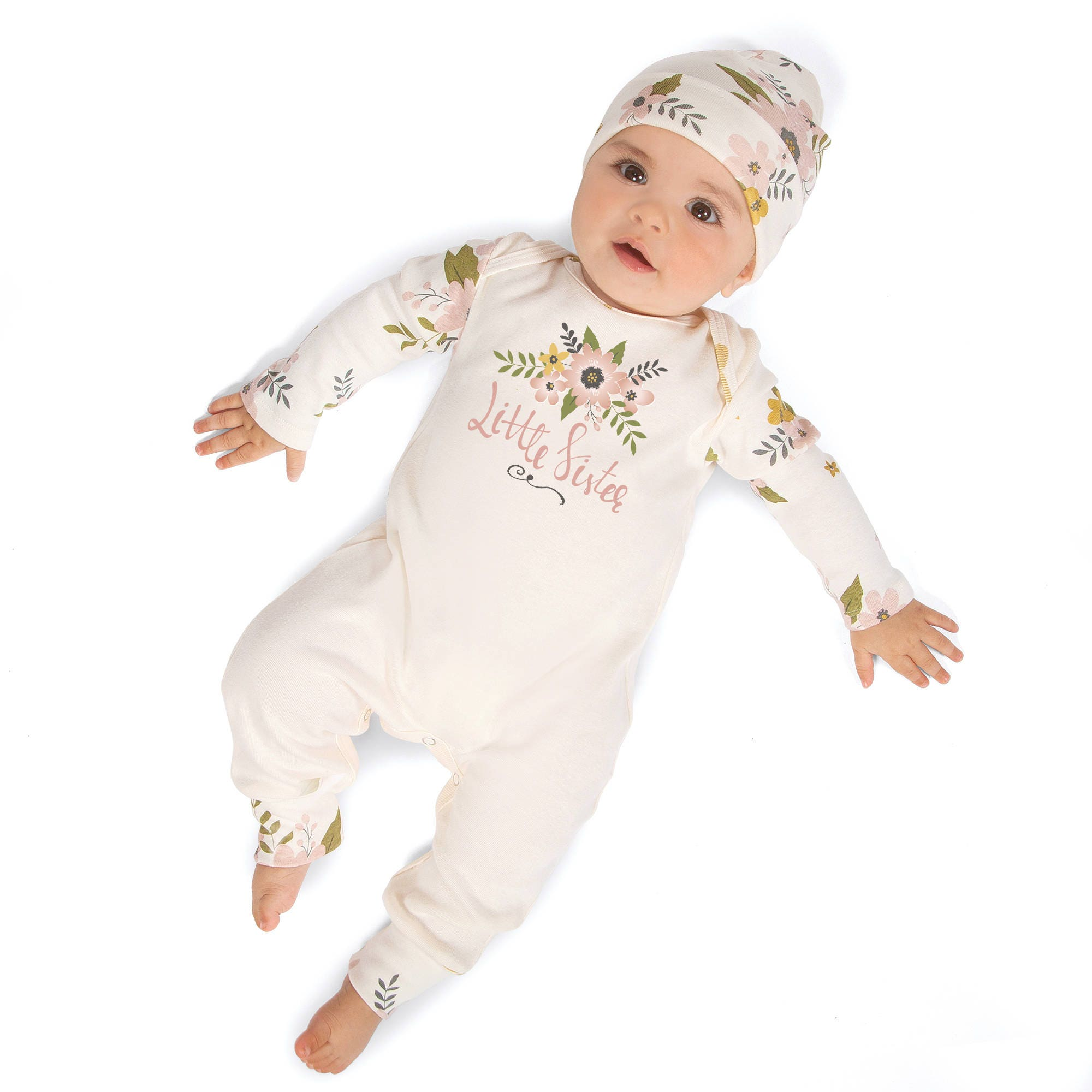 Little Sister Newborn Girl Coming Home Outfit, Infant Girl Outfit ...