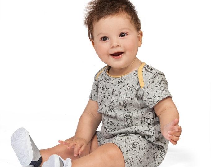 SPRING SALE! Newborn Baby Coming Home Outfit, Baby Boy Onesie Summer, Baby Boy Short Sleeve Romper, Baby Girl Shorts Romper Camper Tesa Babe