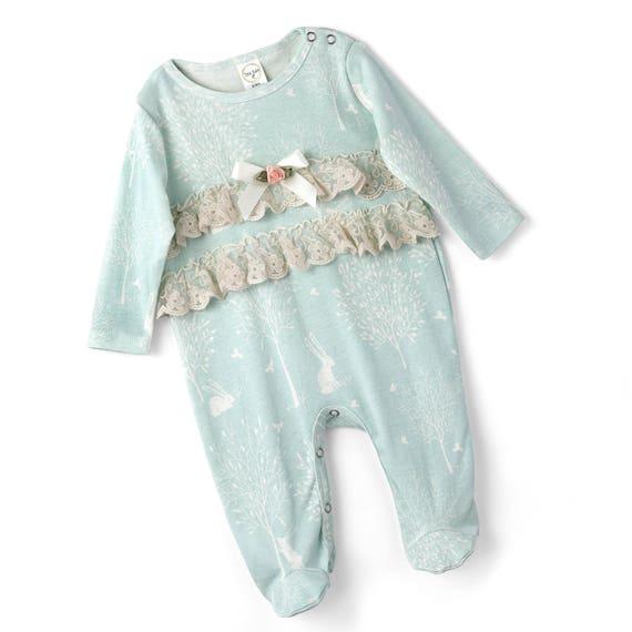 6d25d0af4 SALE Baby Girl Footie Romper Newborn Girl Footie Romper
