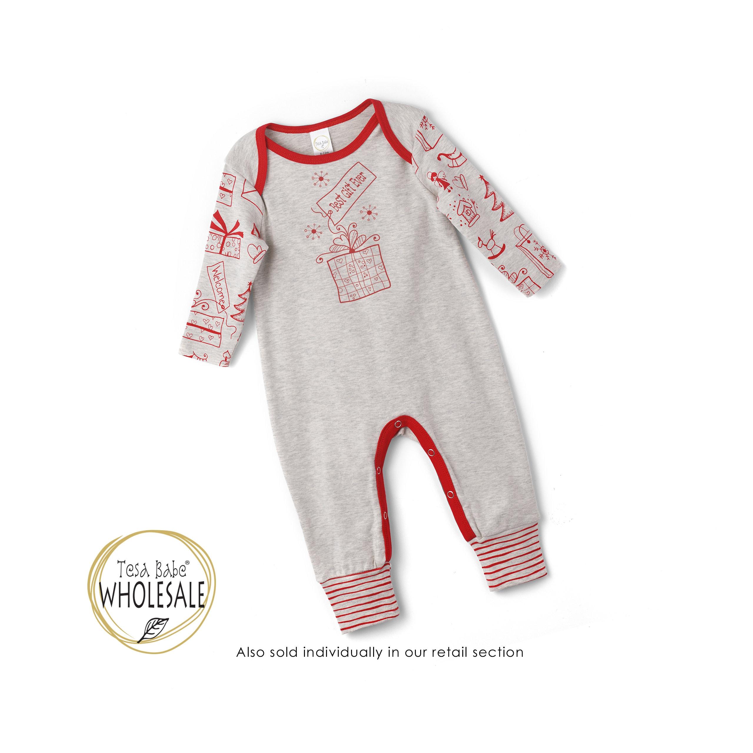 wholesale newborn baby christmas romper gray baby neutral christmas bodysuit baby christmas onesie 1st christmas baby romper tesababe