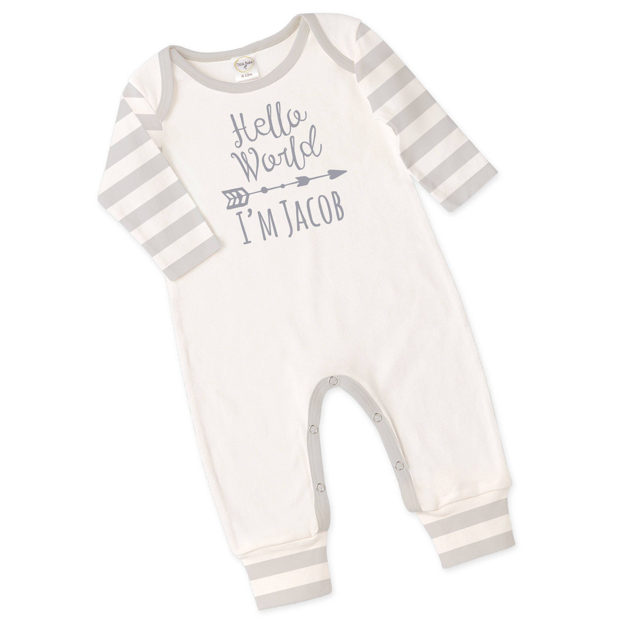 Personalized Newborn Coming Home Outfit, Monogrammed Newborn Outfit ...
