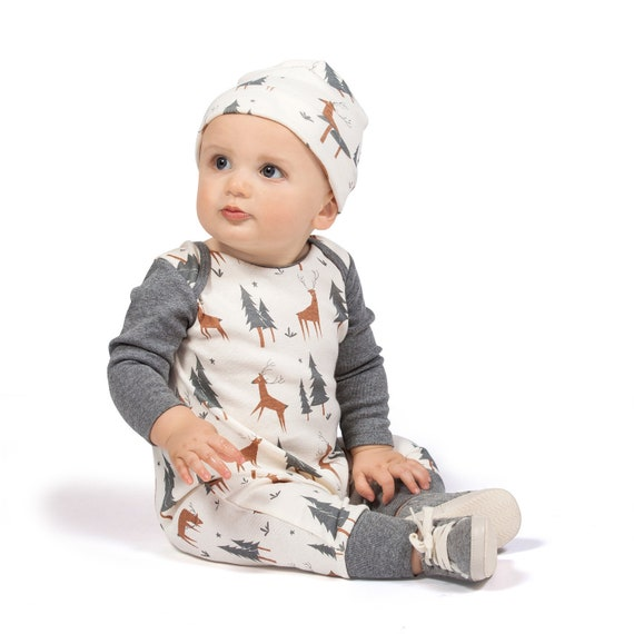 8e3d82c33 Fall Baby Onesie Boy Newborn Coming Home Outfit Forest