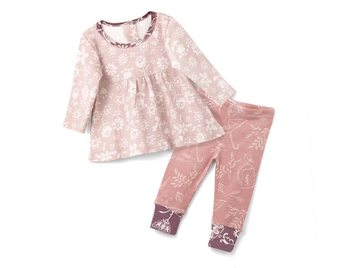Baby Girl Outfit, Baby Girl Clothes, Toddler Baby Clothes, Baby Girl Top, Baby Girl Leggings, Newborn Girl Outfit, Baby Girl Set TesaBabe