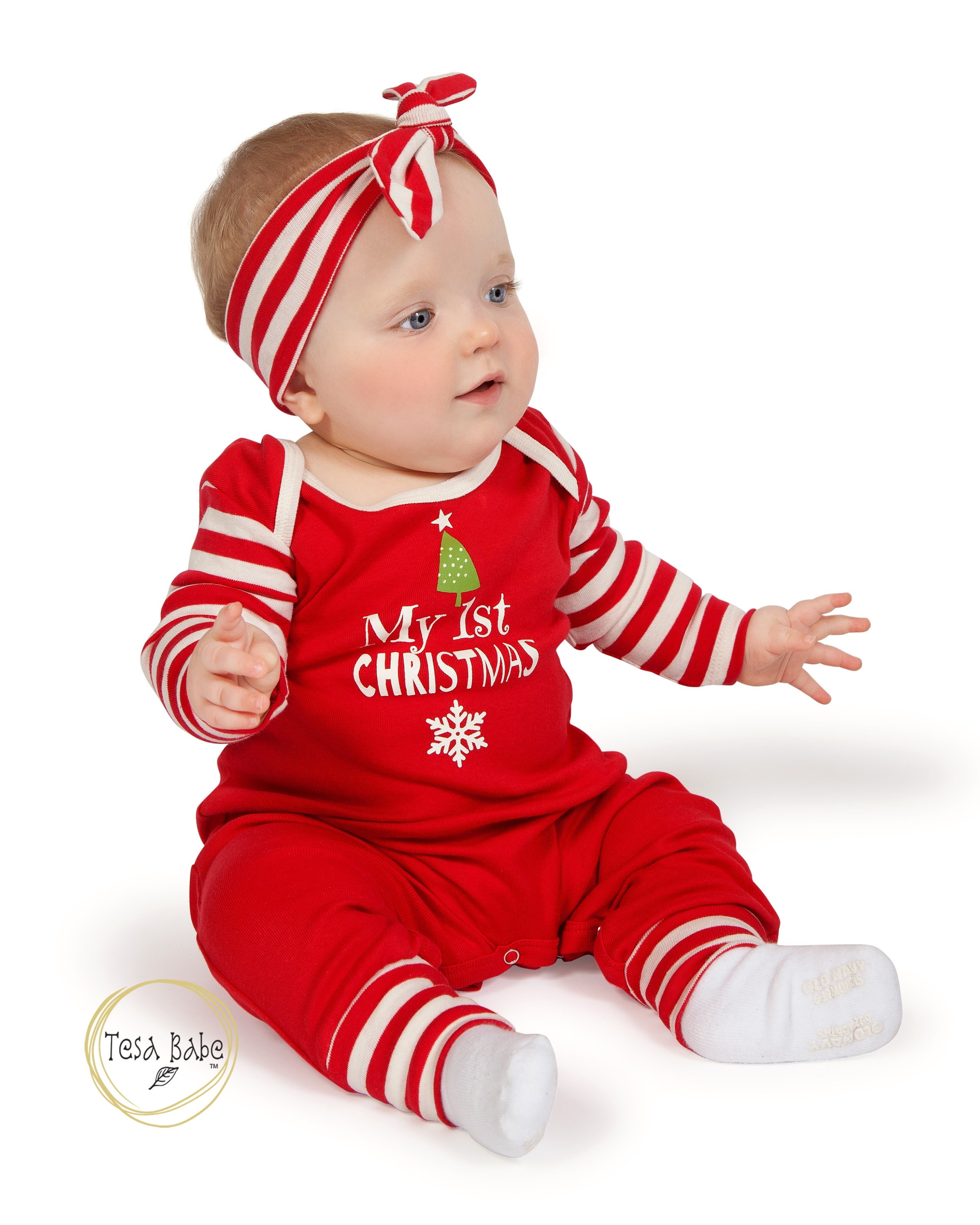 My First Christmas Baby Romper, Newborn Boy 1st Christmas Outfit ...