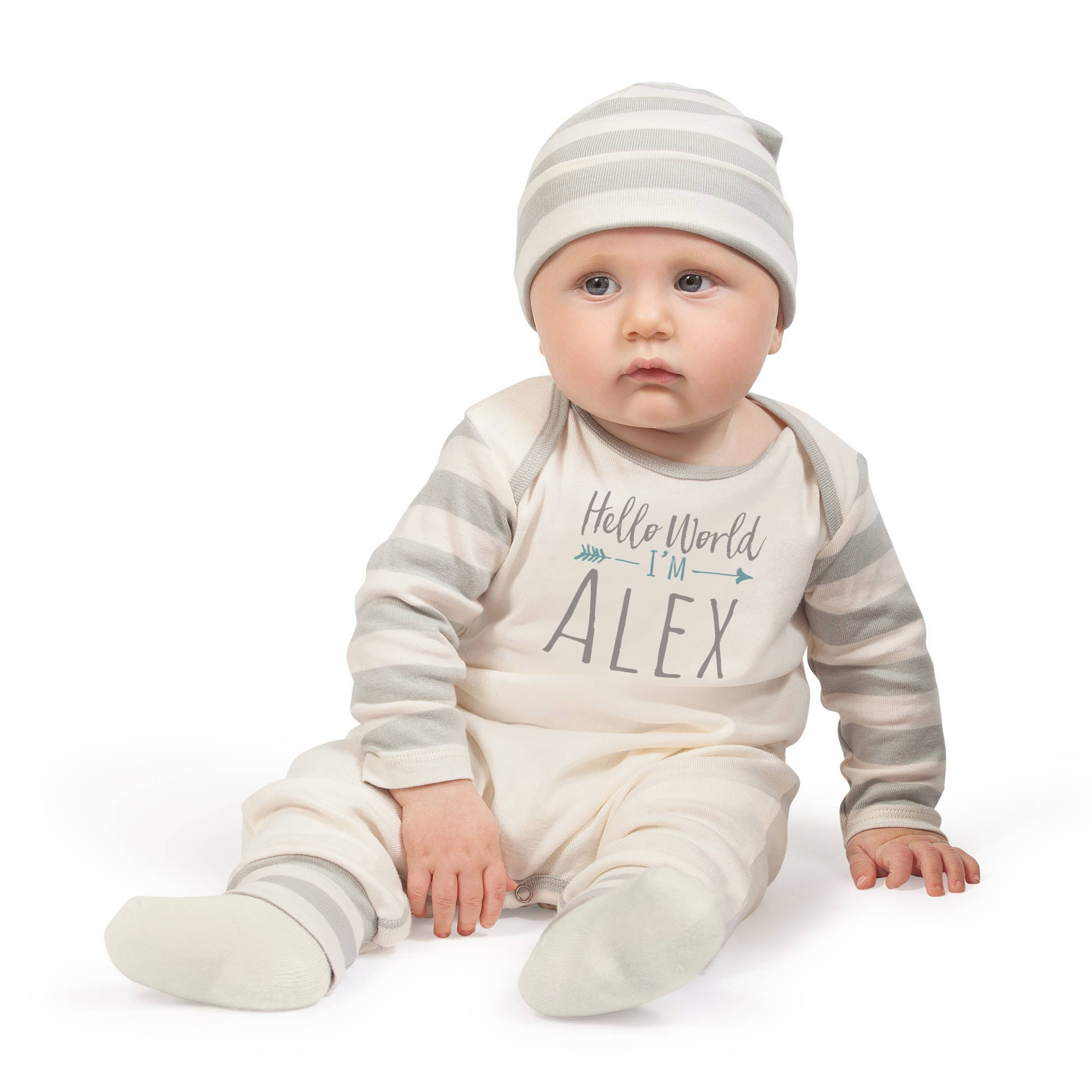 Personalized Newborn Boy Coming Home Outfit, Newborn Boy Outfit ...
