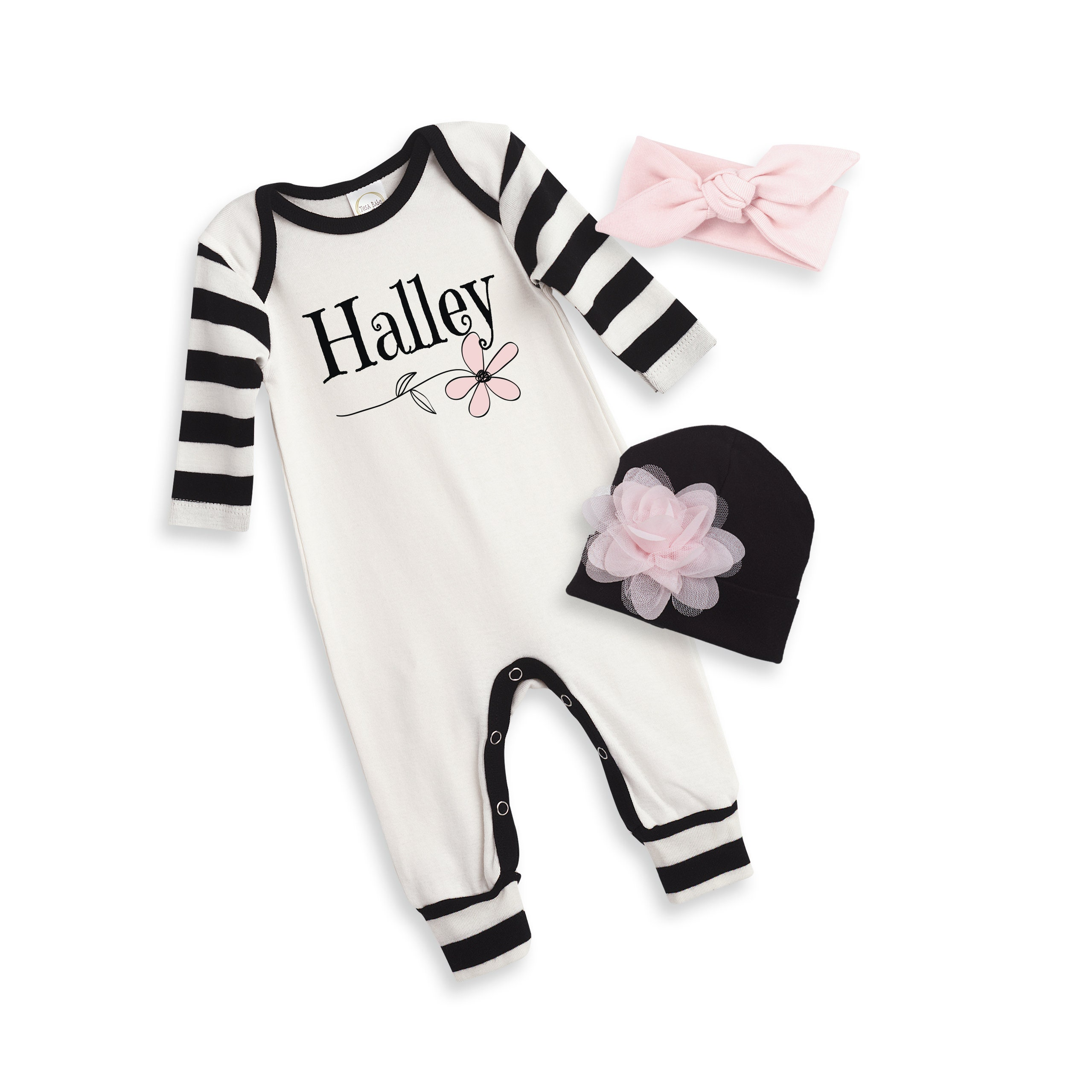 7cbe0d3f8b4 Personalized Newborn Girl Coming Home Outfit