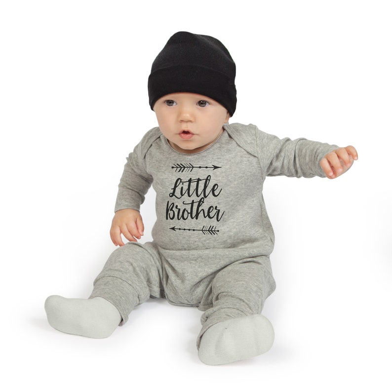 0472c5ef2b9c Little Brother Take Home Romper Baby Boy Coming Home Onesie