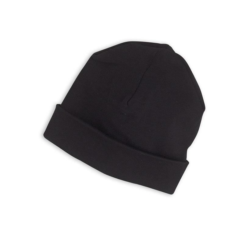 Baby Hat Black Black Newborn Hat Black Baby Hats Baby Boy  60cca5c974b