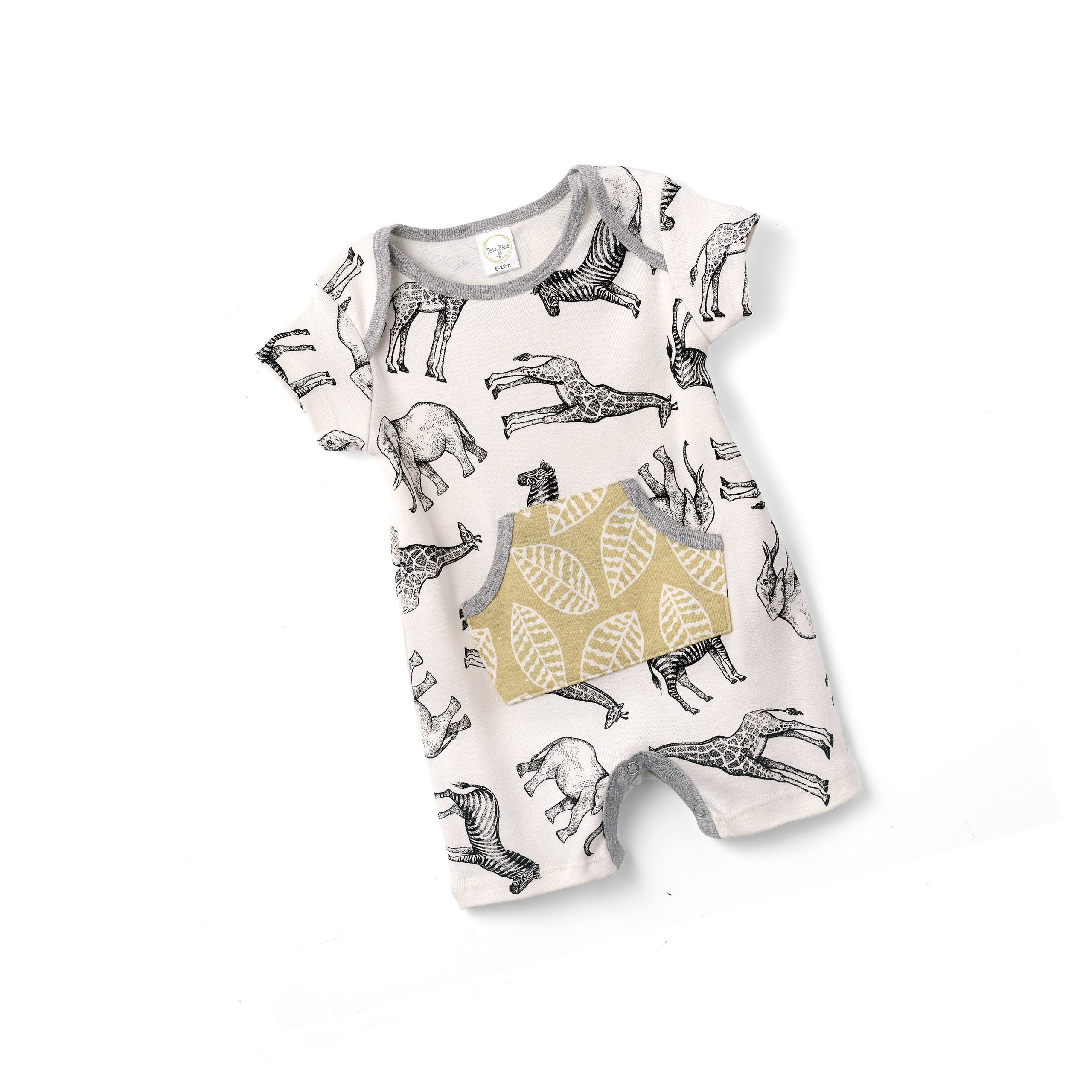 7271d5f6d24f Baby Boy Jumpsuit Shorts Animal