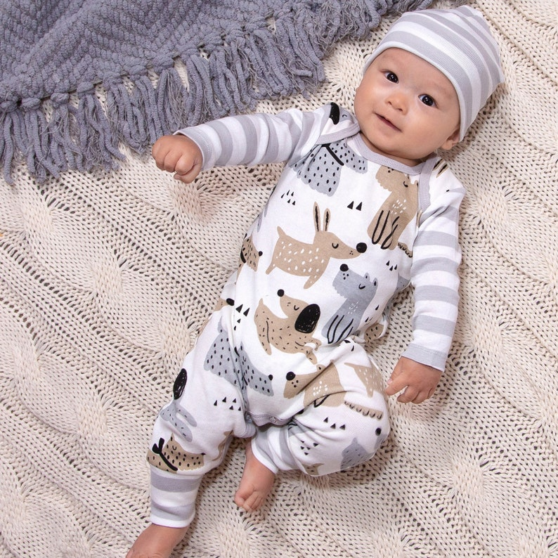 Baby Boy Outfit Gift Set Puppy Dog Baby Boy Outfit Newborn image 0