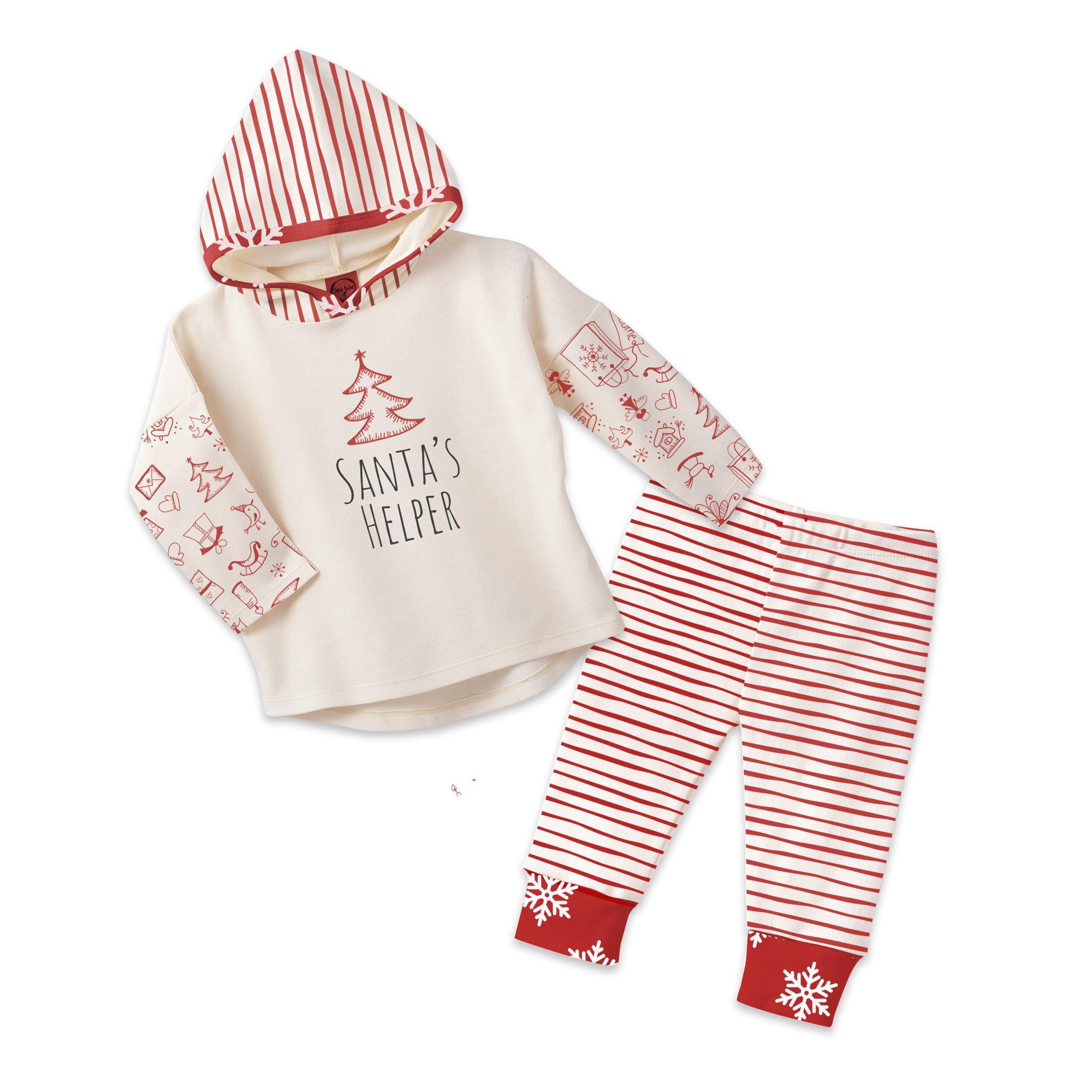 Baby Girl Christmas Hoodie, Christmas Baby Girl Holiday Set, Baby ...