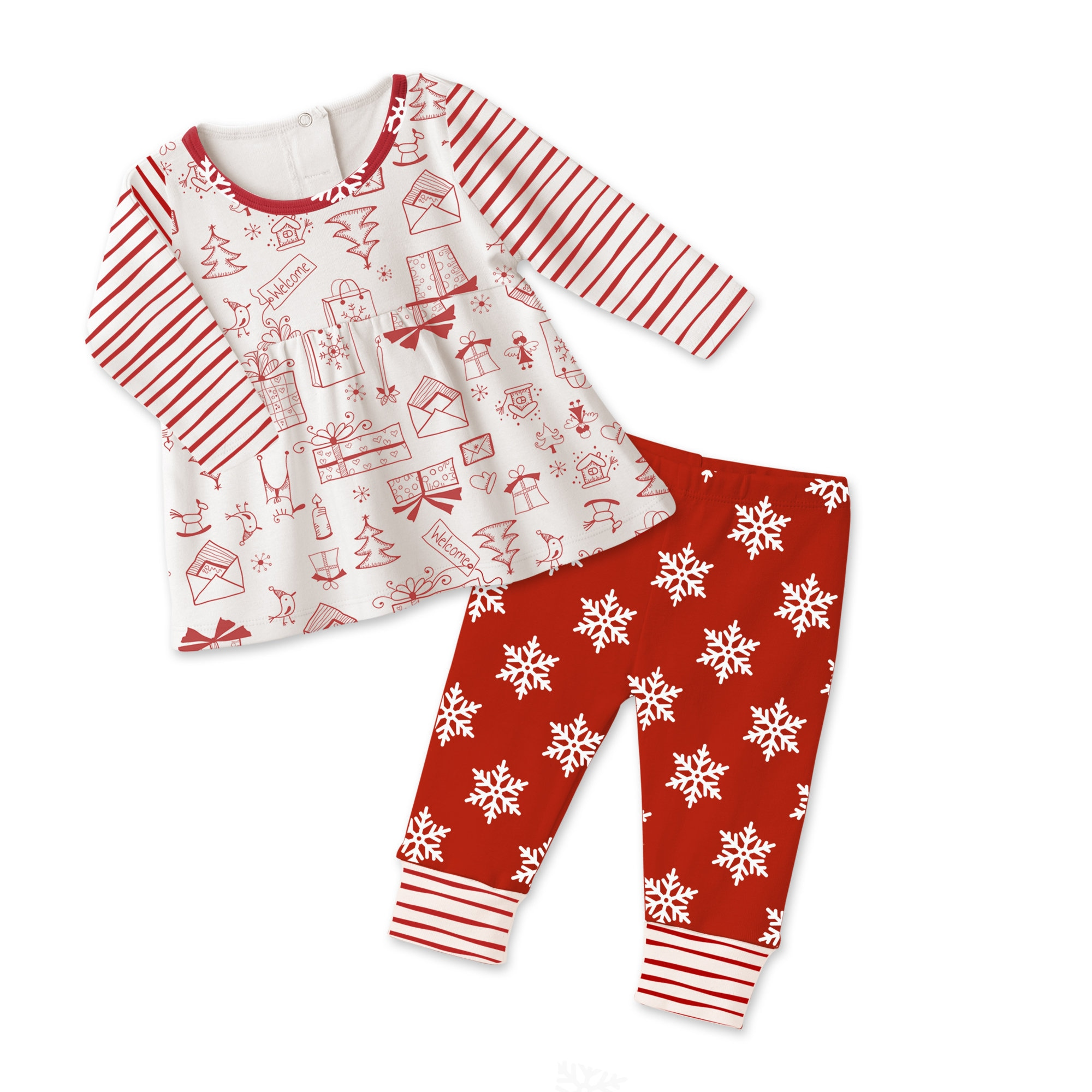 baby girl christmas outfit baby girl holiday top bottom baby girl snowflake red leggings newborn girl outfit infant baby girl tesa babe