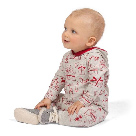 4d2929b49 Baby Christmas Hoodie Holiday Baby Hoodie Romper Newborn