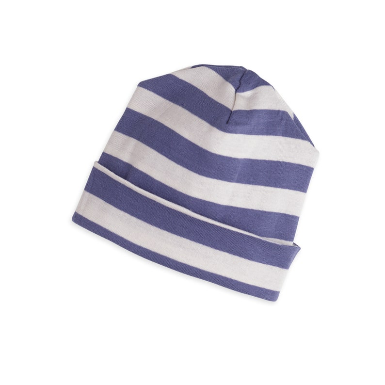 01ef8eaa Baby Boy Hat Newborn Blue Striped Baby Hat Newborn Beanie | Etsy