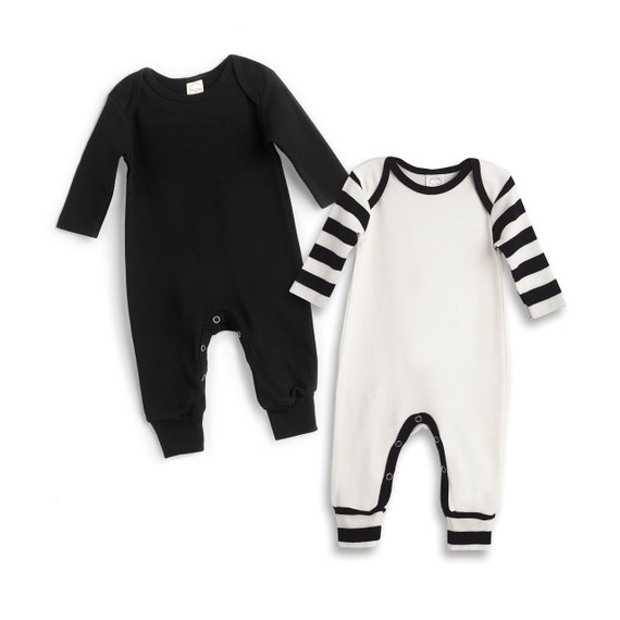 f43c0cd3de7 Newborn Baby Rompers Black White Set of 2 Baby Boy Take Home