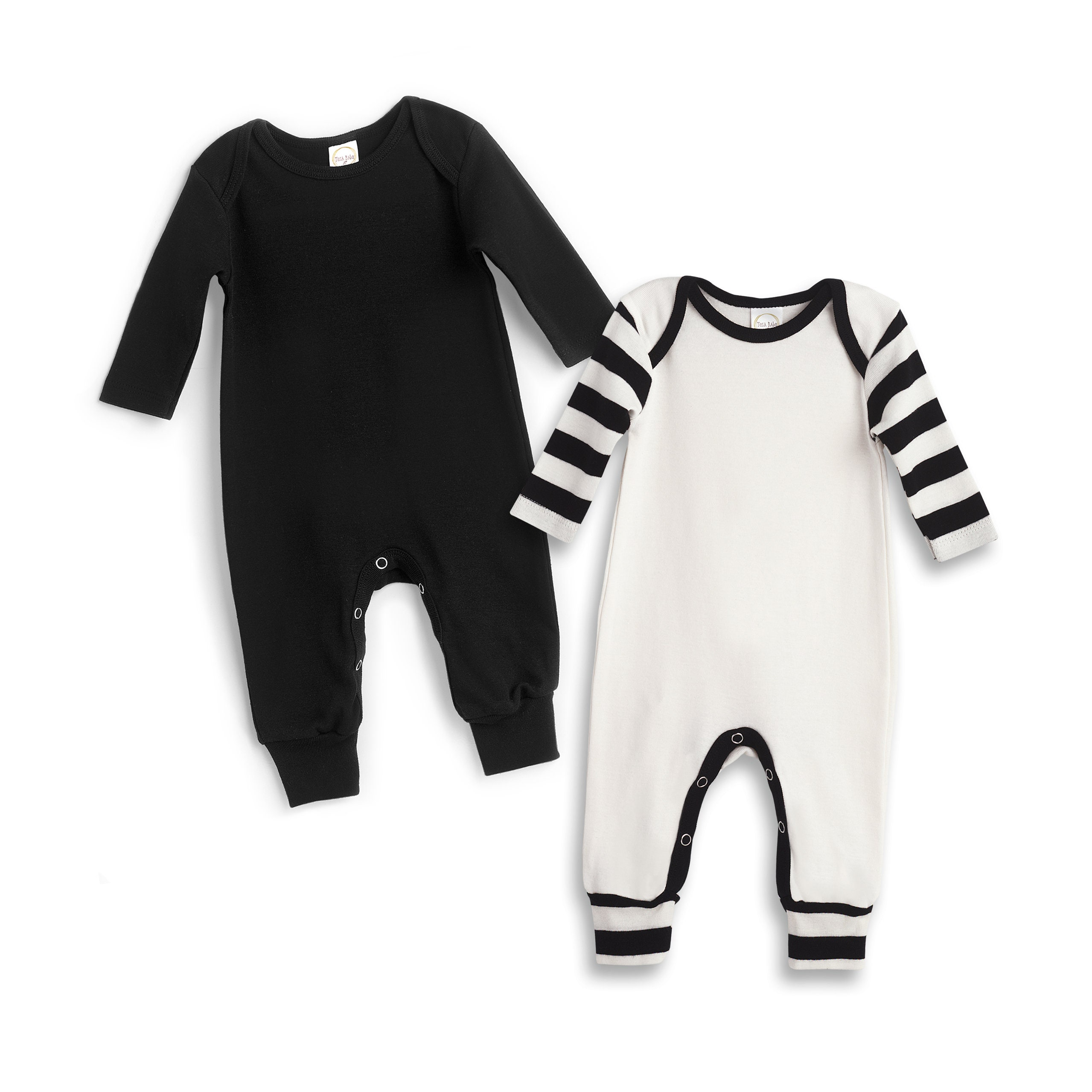 c056499d5e2 Newborn Baby Rompers Black White Set of 2