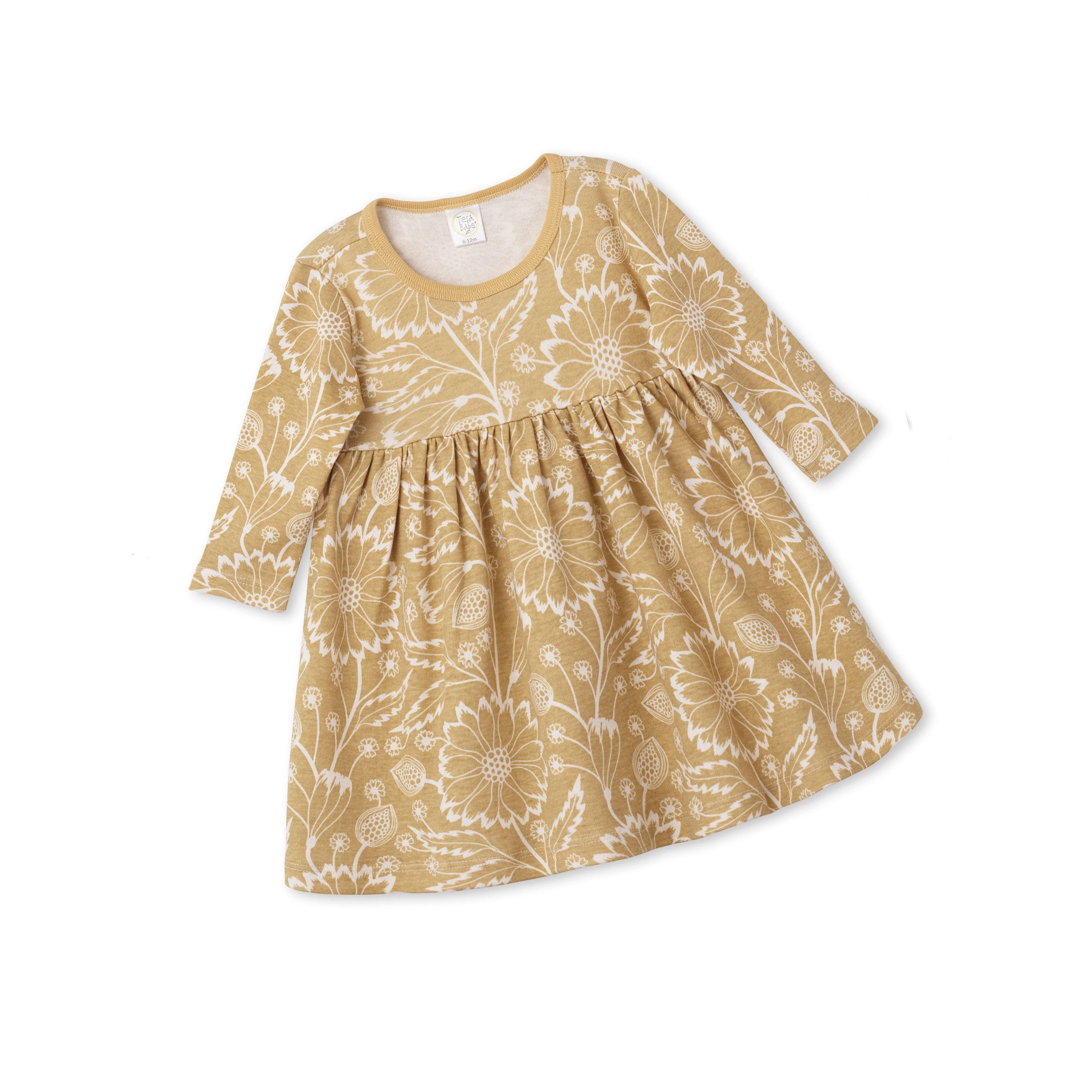 Autumn Baby Girl Dress Newborn Flower Girl Dress Toddler Long