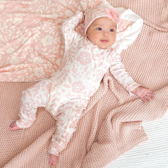 Palm Leaf Blanket-baby blanket-baby set-infant-coming home outfit-coming home set-hospital gift-baby shower gift-baby shower idea-newborn