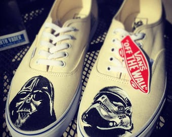 cf2d4dbe39 Star Wars Custom Vans Darth Vader   Stromtrooper Shoes