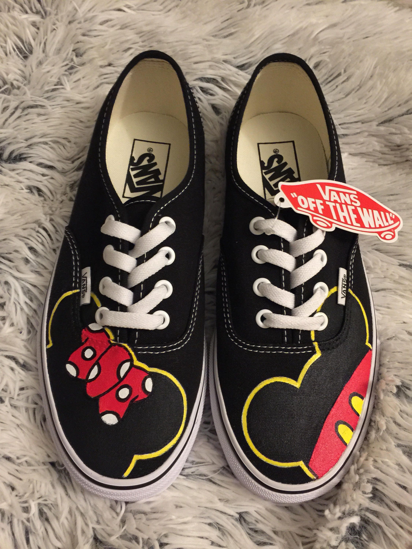 Vans Zapatos Personalizadas Adultoetsy Mickeyamp; Minnie N0owvmn8 nkOPX08w