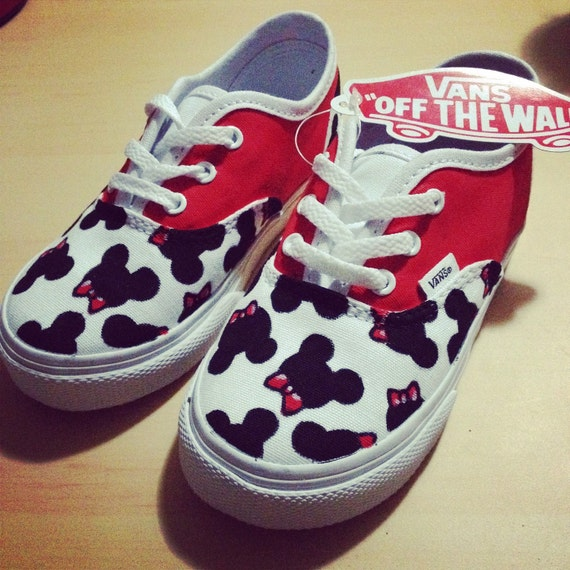 cf4375235b Mickey Mouse Bowties Toddler Custom VANS Shoes