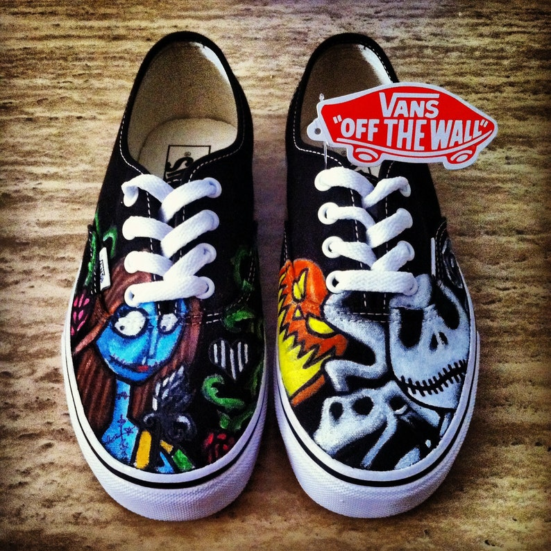b0bbc22d27c8bd Nightmare Before Christmas Adult Custom VANS Shoes