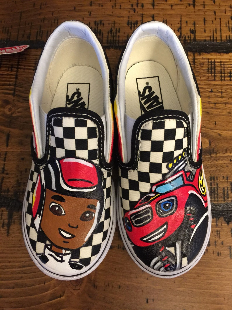 8ccc725353c4 Blaze   The Monster Machines Custom Vans Toddler Shoes