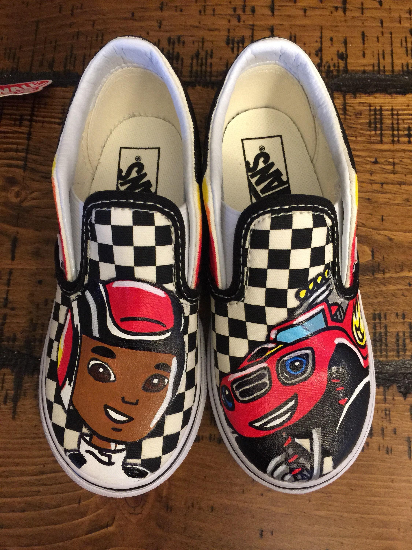 Blaze & The Monster Machines Custom Vans Toddler Shoes | Etsy