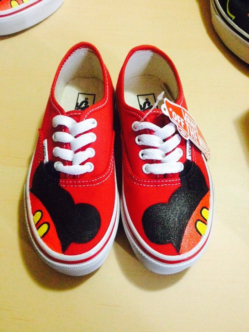 7801a02d2609 Mickey Mouse Toddler Custom VANS Shoes