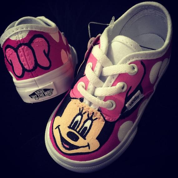 Para Etsy Lazo Niños Zapatos Rosa Mouse Dot Polka Vans