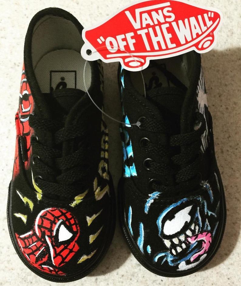 c48d522078d Spiderman   Venom Vans Custom Toddler Shoes